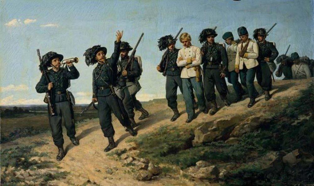 Silvestro Lega Ritorno Dei Bersaglieri Da Una Ricognizione 1861