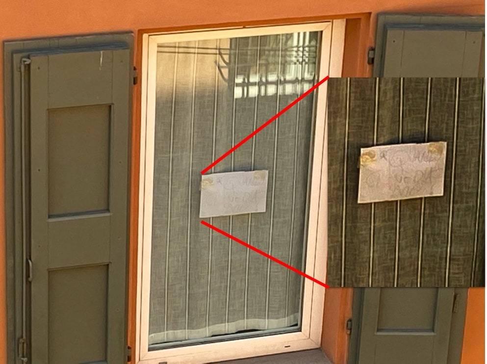 Messaggio finestra