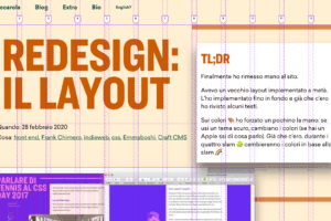 Redesign: il layout